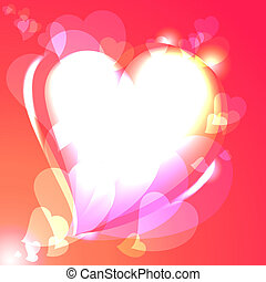 Hearts, speech bubble, background