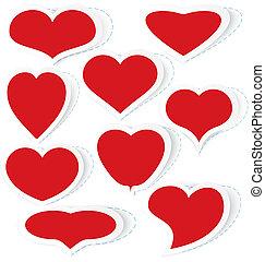 Hearts stickers vector