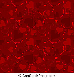 Hearts Texture - Repetitive Pattern, Illustration - Vector