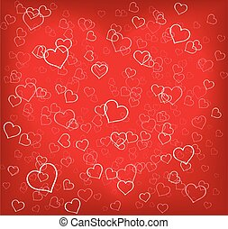 Hearts texture red background