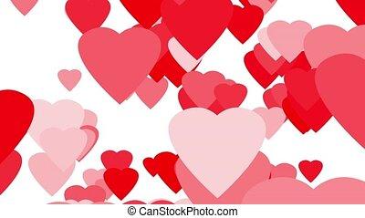 Hearts Up Seamless Loop