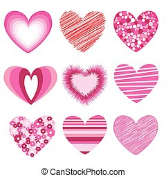 hearts valentine\'s icons