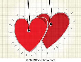 Hearts - Happy valentine`s day card