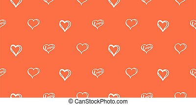 Hearts vector seamless red texture. Pattern for valentine card design. Love clipart background.