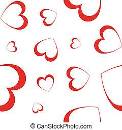 hearts - vector seamless wallpaper