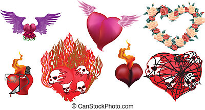 Hearts Vector Set 2