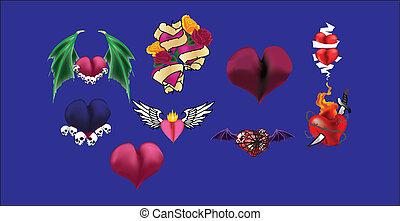 Hearts Vector Set 3