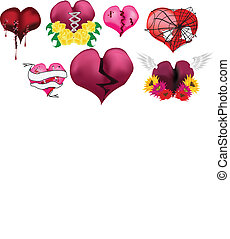 Hearts Vector Set 4