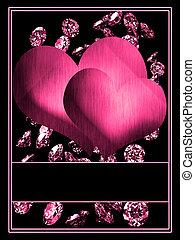 Hearts with diamonds