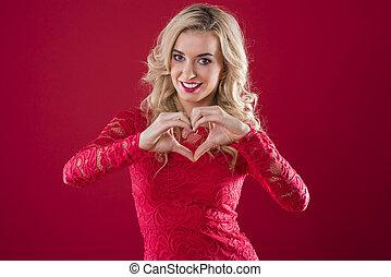 Heartshape made of human hands