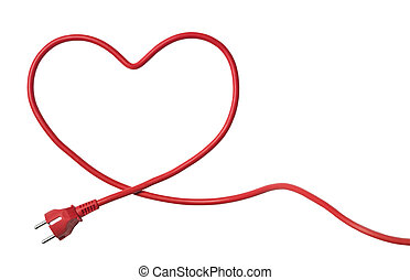 Heartshaped Power Cable