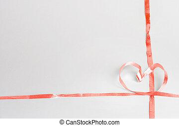Heartshaped ribbon - herzfoermige Schleife - heartshaped...