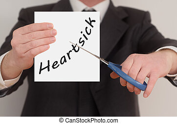Heartsick, determined man healing bad emotions - Heartsick,...