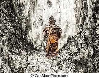 heartwood earth tone of skin texture