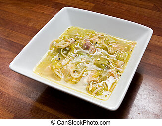 Hearty broth - Hearty home cooked broth made from leftover ...
