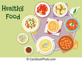 Hearty food icon for menu or recipe design - Hearty food for...