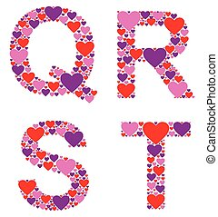Hearty QRST - The letters Q, R, S, and T filled with...
