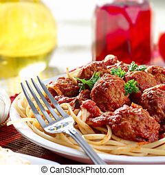 hearty spaghetti dinner