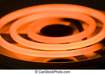 Close-up image of an electric range heating element