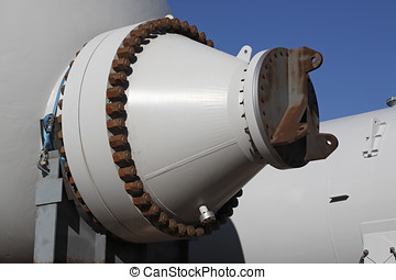 Heat Exchanger - the end of a large heat exchanger pressure...
