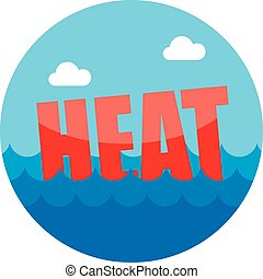 Heat icon. Summer. Vacation