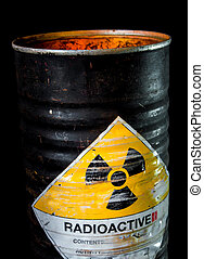 Heat in the cylinder container of radioactive material