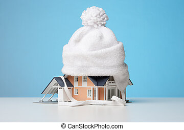 Heat insulation of house - Baby cap isolate model of the...