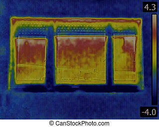 Heat Loss Detection - Thermal Image of a Heat Loss through...