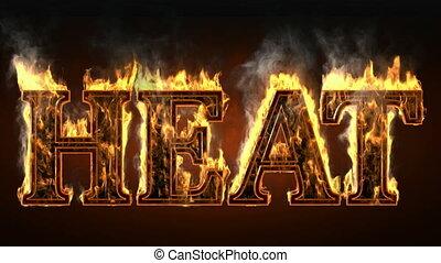heat of fire with smoke