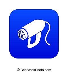Heat power tool icon blue isolated on white background