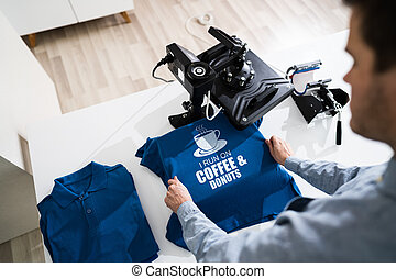 Heat Transfer T Shirt Printing. Tshirt Merchandise