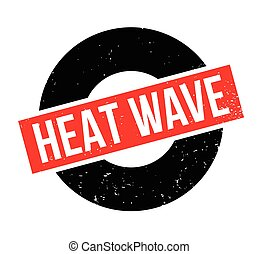 Heat Wave rubber stamp