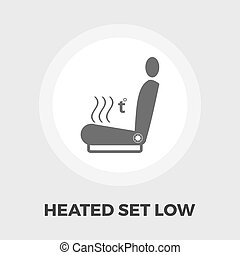 Heated seat flat icon