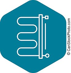 Heater boiler icon. Outline heater boiler vector icon for web design isolated on white background
