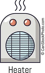 Heater icon, cartoon style