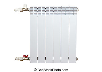 Heater isolated on white