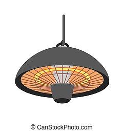 Heater lamp icon, flat style