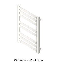 Heater towel rail isometric icon vector grasphic illustration