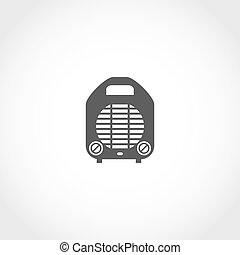 Heater vector icon