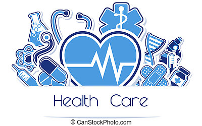 heath care and medical sign vector