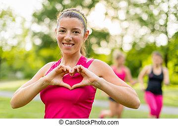 heathy heart through cardiovascular activity in fresh air