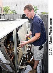 Heating Air Conditioning Technician - An HVAC heating...