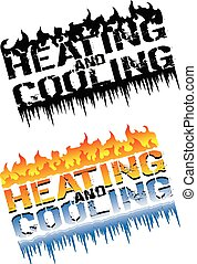 Heating and Cooling Emblems is an illustration that can be...