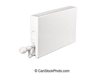 heating battery radiator isolated on white
