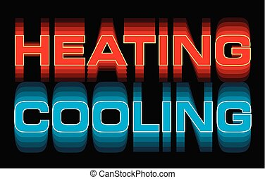 Heating Cooling is an illustration is an illustration that ...