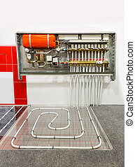 Heating floor system