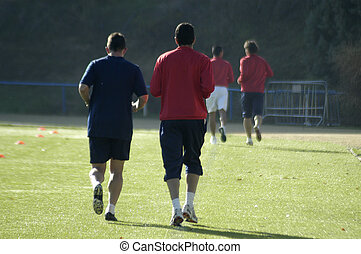 heating for a soccer training