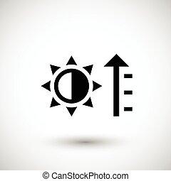 Heating icon symbol