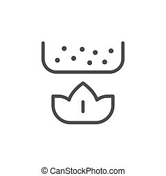 Heating line outline icon and brewery concept