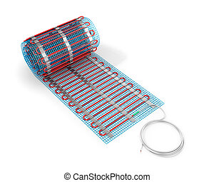 Heating mat on a white background. 3D illustration